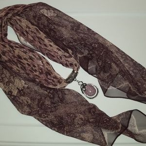 Sheer Scarf with Slider